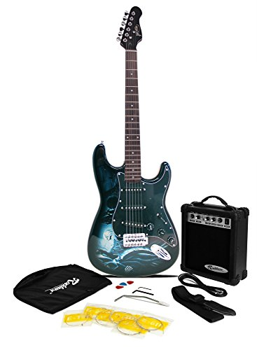 Jaxville Hades ST Style Electric Guitar Pack with Amp, Gig Bag, Strings,...