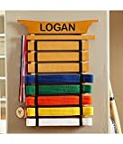 Martial Arts Personalized Belt Holder, Holds up to 8 Belts