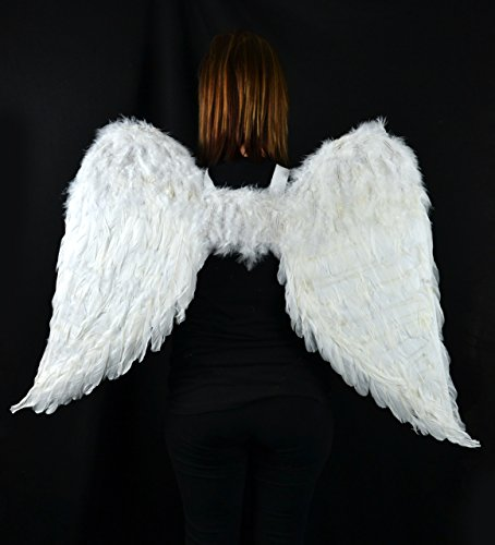 Touch of Nature 11008 Adult Angel Wing in White with Elastic Straps, 43 by 27-Inch by Touch of Nature (Image #1)