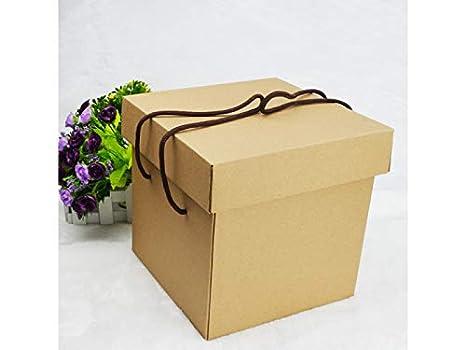 Yyanliii Caja de embalaje para dulces, cajas de regalo de papel kraft vintage, caja