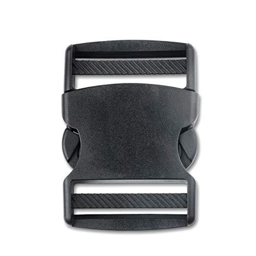 DYZD Side Release Buckles Plastic Webbing Buckle for Backpack Bag (52mm, 2 PCS) ()