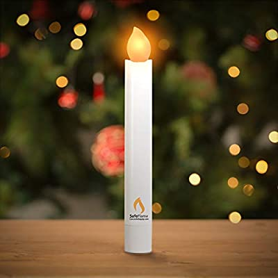 Concordia Supply SafeFlame Hand Held LED Flickering Amber Battery Candles - Church Service, Candlelight Vigil - AAA Batteries Included (Pack of 25): Home & Kitchen