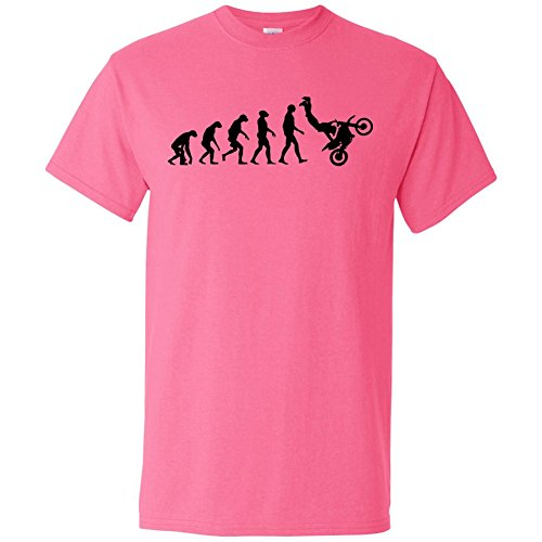 Evolution of Motocross Graphic T-Shirt - Pink - (Evolution Womens Pink T-shirt)
