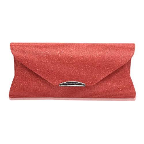 pour Dames soirée Sac Embrayages Bandoulière de Banquet Léger Sac Épaule Red Mode Long Sac Dîner Portefeuille 5EIqp5