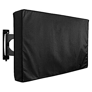 "Outdoor TV Cover 50"" - 52"" - with Bottom Cover - The Weatherproof and Dust-Proof Material with Free Microfiber Cloth. Protect Your TV Now!"