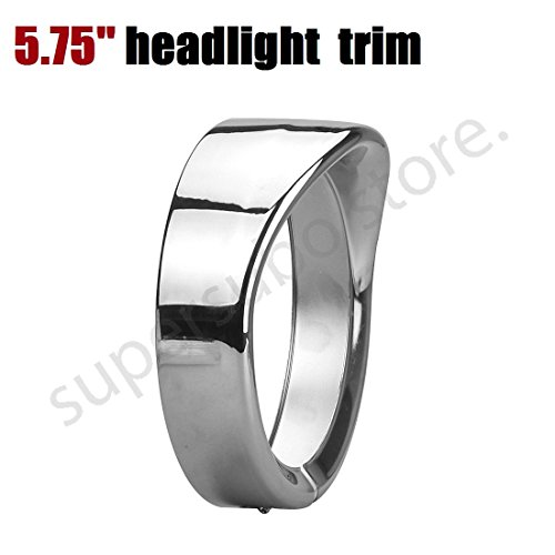 (Chromed 5.75'' Headlamp Visor for harley sportster 1200 Headlamp Trim Ring 69735-05 for Harley Parts 5 3/4