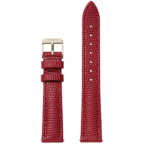 CLUSE Minuit 16 mm Deep Red Lizard Leather Strap CLS382 Fits: Minuit, La Roche Petite, La Garconne & Triomphe