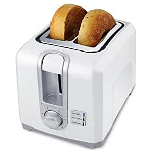 Amazon Com Black Decker Tr1256w 2 Slice Toaster Bagel