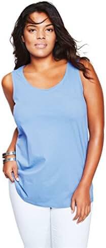 Roamans Women's Plus Size Scoop Neck Tank