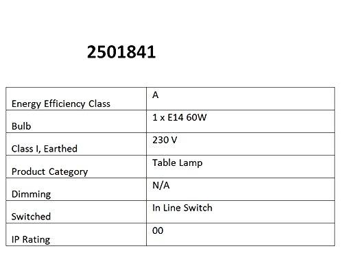 Premier Housewares E14 60 W Small Edison Screw with Bulbus