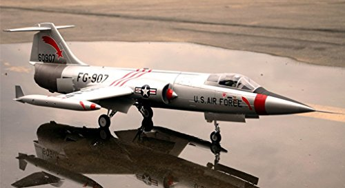 F-104 Starfighter Silver Super Scale 90mm with 12 Blade EDF Ducted Fan Jet RC Airplane PNP