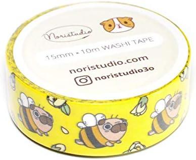 15mm x 10m Bumble Bee Washi Tape
