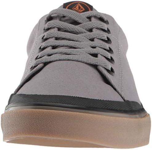 Volcom Men s LEEDS Canvas Vulcanized Skate Shoe, Neutral Grey, 8 D US