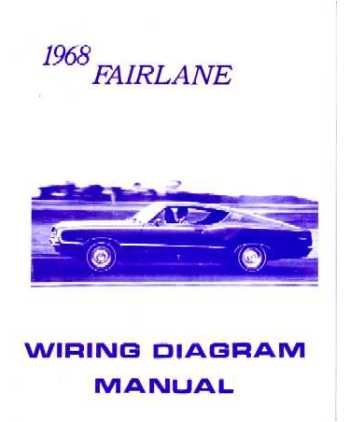 amazon com 1968 ford fairlane wiring diagrams schematics rh amazon com 1968 ford fairlane 500 wiring diagram 1957 Ford Fairlane Wiring-Diagram