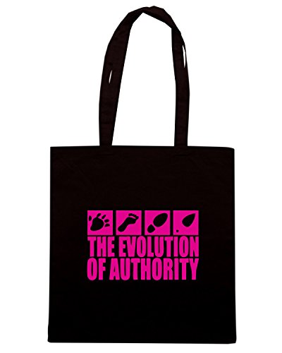 T-Shirtshock - Bolsa para la compra EVO0013 Evolution Of Authority Maglietta Negro