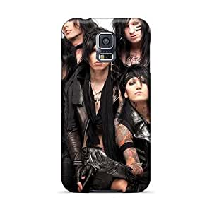 Shock-Absorbing Hard Cell-phone Cases For Samsung Galaxy S5 (iAr15619AKJW) Allow Personal Design Nice Black Veil Brides Band BVB Image