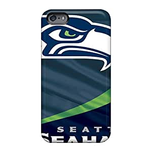 Shockproof Hard Phone Covers For Apple Iphone 6s (pmu2474vBSm) Unique Design Beautiful Seattle Seahawks Skin