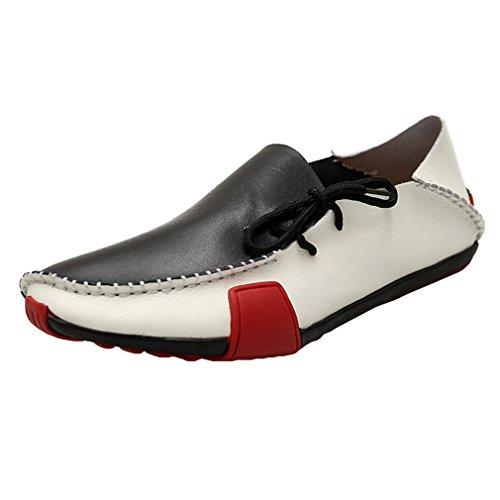 3 38 Mocasines Zapatos Planos Cuatro Casual Cuero para Estaciones de Negocio Zapatos Colores Los Asiáticos Blanco 47 Hombres Zapatos RFaxqWOw
