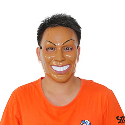 [Smiling Man Mask Plastic The Purge Horror Halloween Mask Cosplay Custome Prop] (Smiling Man Mask)