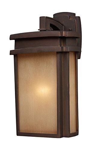 (ELK 42141/1, Sedona Outdoor Wall Sconce Lighting, Clay Bronze)