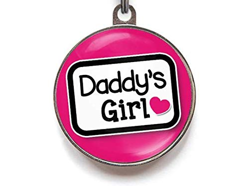 - Wag-A-Tude Tags Daddy's Girl - Custom Pet ID Tag for Dogs - Funny Dog Tag for Dogs (Large)