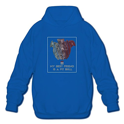 My Best Friend Is A Pit BullHoody Thick Fleeces Athletic Long-sleeved Hoody Sweatshirt For Men by SUNG HEE
