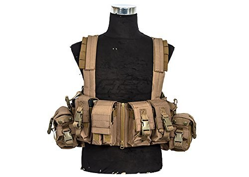600D Lancer Tactical CA-317 Series T1G Load Bearing Chest Rig (TAN) by LANCER TACTICAL