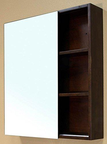 Bellaterra Home 203132-MIRROR Solid Wood Mirror Cabinet, Walnut