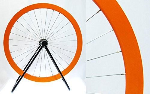 LongEdge 700C 42mm カラーホイール B06XQJ71G3 フロント(前輪)用|オレンジ オレンジ フロント(前輪)用