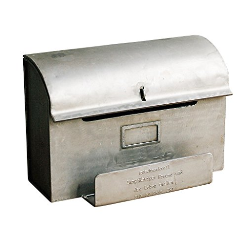 Time Concept Handcrafted Metal Iron European Antique Style Décor - Mail Box w/ Letter Stand - Home Adornment from Time Concept