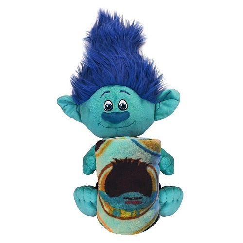 "DreamWorks Trolls Branch Fleece Throw Blanket and 16"" Cuddle"