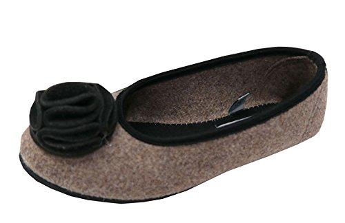marrone Nevadahausballerina Marrone Pantofole Pantofole Nevadahausballerina Donna wqxSwPYB