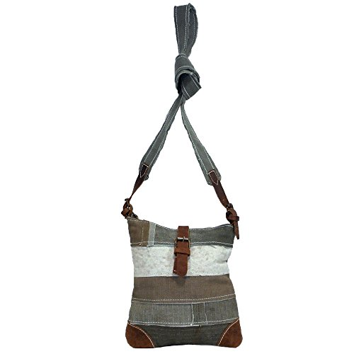 Recycled Vintage Cross Body Tent Bag Olive Boho Green Shoulder npqwxCFtSR
