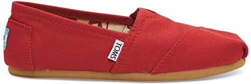 Toms Women's Classic Canvas Red Slip-on Shoe - 7.5 B(M) US (Tom Red)