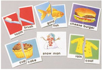 Didax DD-2608  Compound Words Matching Puzzle Card Set -
