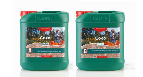 Canna 5 L Coco Part A & B-Veg & Bloom Nutrient-Developed For Run to Waste in Coco Mediums-CANNA 9410005 by CANNA
