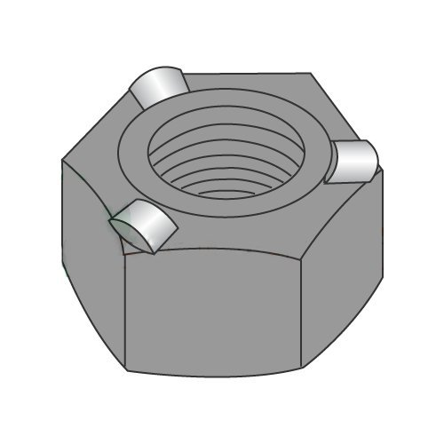 1/4-20 Hex Weld Nuts / 3 Projections/Self-Locating Pilot/Steel/Plain (Carton: 1,000 pcs)