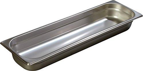 Carlisle 60700HL2 DuraPan 18-8 Stainless Steel Light-Gauge Half-Size Long Food Pan, 3.30 qt. Capacity, 20-1/2 x 6-3/8 x 2-1/2 inch (Case of 6)