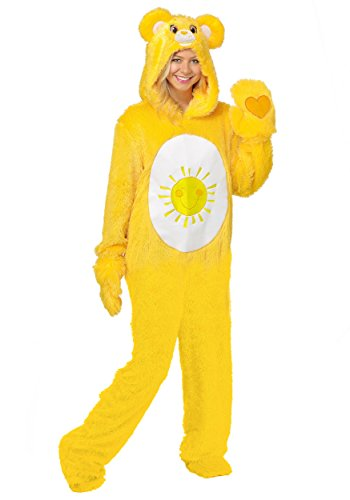 Adult Care Bears Funshine Bear Costumes (Care Bears Adult Classic Funshine Bear Costume Medium)