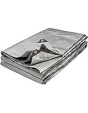 Provence Outillage 5086 afdekzeil, 6 x 12 m, 200 g/m2, grijs/zwart