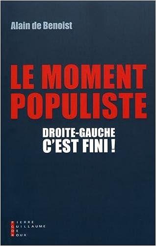 Couverture Droite-gauche, c'est fini!: Le moment populiste