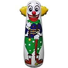"16""L x 18""W x 52""H Inflatable Clown Punching Bag Toy"