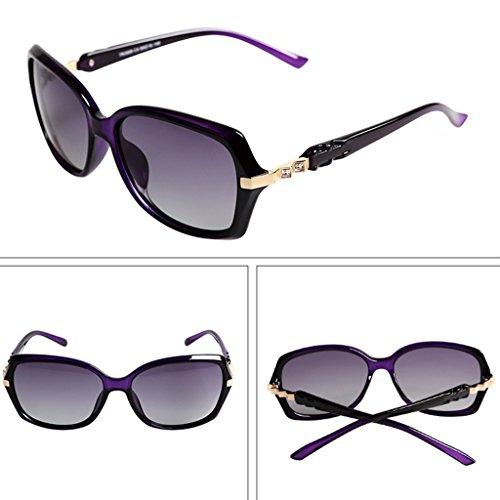 Lunettes Drive UV Lunettes Couleur Polarisées Anti Mode de Verres Féminins Violet Rouge Soleil Élégant IaFpva