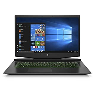 HP Pavilion 17-Inch Gaming Laptop, Intel Core i7-9750H, NVIDIA GeForce GTX 1660 Ti with Max-Q Design, 8GB RAM, 256GB Solid State Drive, Windows 10 (17-cd0030nr, Black)