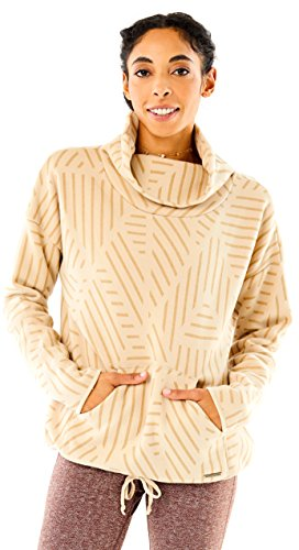 CARVE Designs Rowayton Cowl Neck Sweater, Large, Agate Sol - Design Agate