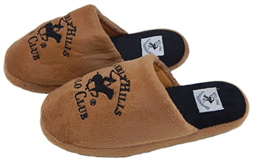 Women's Great Club Plush Slippers Gifts Soft Skid Non Hills Cozy for Black Ultra Tan Scuffs Beverly Polo qpwxU7fEX