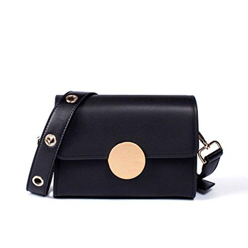 bolso del retro retro de hombro cuero Crossbody mujeres Bolso del cuadrado del del las bolso genuino de Púrpura Color Orange Color sólido xO0q6wtq8