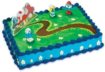 Excellent Amazon Com Fun To Collect The Smurfs Figurines Cake Topper Set Funny Birthday Cards Online Overcheapnameinfo