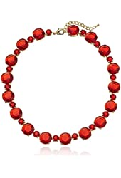 All Around Faceted Lucite Stone Collar Statement Necklace