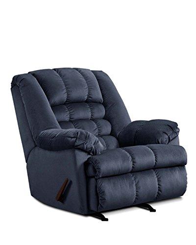 - Simmons Upholstery Malibu Rocker Recliner Blue